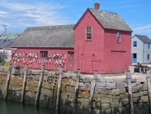 κόκκινη καλύβα Στοκ φωτογραφίες με δικαίωμα ελεύθερης χρήσης