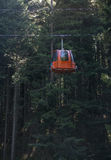 Κόκκινη καμπίνα ανελκυστήρων Στοκ Φωτογραφίες