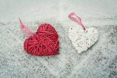 Κόκκινη καρδιά στον πίνακα Στοκ φωτογραφίες με δικαίωμα ελεύθερης χρήσης