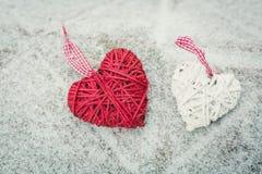 Κόκκινη καρδιά στον πίνακα Στοκ εικόνα με δικαίωμα ελεύθερης χρήσης