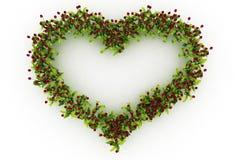 Κόκκινη καρδιά τουλιπών Απεικόνιση αποθεμάτων
