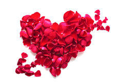 Κόκκινη καρδιά τριαντάφυλλων Στοκ εικόνα με δικαίωμα ελεύθερης χρήσης