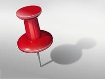Κόκκινη καρφίτσα Στοκ εικόνα με δικαίωμα ελεύθερης χρήσης