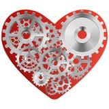 Κόκκινη καρδιά με τα εργαλεία Στοκ Εικόνα