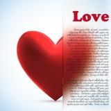 κόκκινη καρδιά με τη θαμπάδα eps 10 γυαλιού Στοκ Εικόνες
