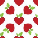 Κόκκινη καρδιά της Apple άνευ ραφής Στοκ φωτογραφίες με δικαίωμα ελεύθερης χρήσης