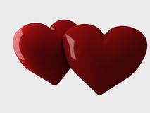 Κόκκινη καρδιά, τρισδιάστατη απεικόνιση Στοκ Εικόνες