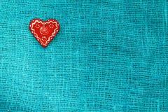 Κόκκινη καρδιά τυρκουάζ ημερησίως βαλεντίνων ` s του ST υποβάθρου Στοκ Φωτογραφία
