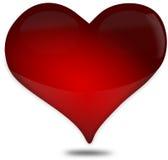 Κόκκινη καρδιά φιαγμένη από εικονίδιο γυαλιού για την ημέρα ενός βαλεντίνου Στοκ Εικόνα