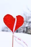 Κόκκινη καρδιά Στοκ φωτογραφίες με δικαίωμα ελεύθερης χρήσης