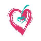 Κόκκινη καρδιά Ελεύθερη απεικόνιση δικαιώματος