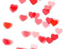Κόκκινη καρδιά bokeh στο λευκό Στοκ φωτογραφία με δικαίωμα ελεύθερης χρήσης