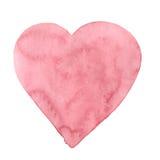 Κόκκινη καρδιά watercolor Στοκ Εικόνα