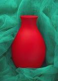 Κόκκινη κεραμική κινηματογράφηση σε πρώτο πλάνο βάζων Στοκ εικόνες με δικαίωμα ελεύθερης χρήσης