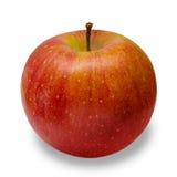 Κόκκινη κινηματογράφηση σε πρώτο πλάνο της Apple που απομονώνεται στο άσπρο υπόβαθρο Στοκ Φωτογραφίες