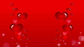 Κόκκινη κινούμενη εικόνα καρδιών απεικόνιση αποθεμάτων