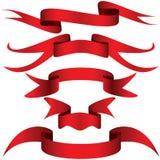κόκκινη κορδέλλα απλά Στοκ Εικόνες