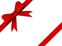 κόκκινη κορδέλλα δώρων τόξ&ome Στοκ φωτογραφία με δικαίωμα ελεύθερης χρήσης