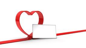 κόκκινη κορδέλλα καρδιών ελεύθερη απεικόνιση δικαιώματος