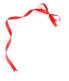 κόκκινη κορδέλλα πλαισί&omega Στοκ φωτογραφία με δικαίωμα ελεύθερης χρήσης