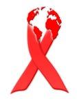 κόκκινη κορδέλλα συνειδητοποίησης ενισχύσεων Στοκ Φωτογραφία