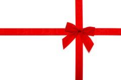 κόκκινη κορδέλλα τόξων Στοκ φωτογραφία με δικαίωμα ελεύθερης χρήσης