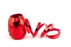 κόκκινη κορδέλλα φύλλων &alph στοκ εικόνα