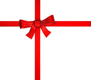 κόκκινη κορδέλλα δώρων κιβωτίων Στοκ φωτογραφία με δικαίωμα ελεύθερης χρήσης