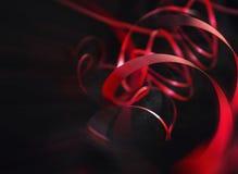 κόκκινη κορδέλλα Στοκ Εικόνα