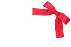 Κόκκινη κορδέλλα τόξων Στοκ εικόνα με δικαίωμα ελεύθερης χρήσης