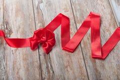 Κόκκινη κορδέλλα Στοκ εικόνα με δικαίωμα ελεύθερης χρήσης