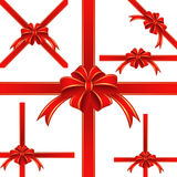 Κόκκινη κορδέλλα Στοκ εικόνες με δικαίωμα ελεύθερης χρήσης