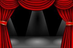 Κόκκινη κουρτίνα βελούδου στοκ φωτογραφία