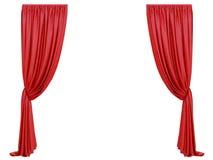 Κόκκινη κουρτίνα ενός θεάτρου διανυσματική απεικόνιση