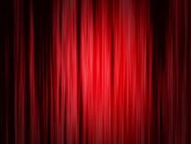 Κόκκινη κουρτίνα θεάτρων Στοκ εικόνες με δικαίωμα ελεύθερης χρήσης