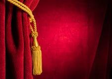 Κόκκινη κουρτίνα θεάτρων Στοκ εικόνα με δικαίωμα ελεύθερης χρήσης