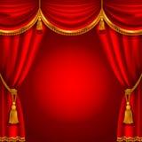 Κόκκινη κουρτίνα απεικόνιση αποθεμάτων