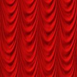Κόκκινη κυματιστή κουρτίνα άνευ ραφής Στοκ φωτογραφία με δικαίωμα ελεύθερης χρήσης