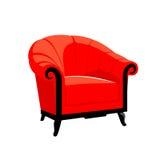 Κόκκινη κλασική βασιλική πολυθρόνα Στοκ εικόνα με δικαίωμα ελεύθερης χρήσης