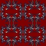 Κόκκινη κλασική ταπετσαρία σχεδίων αναδρομική Στοκ Εικόνες