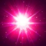 Κόκκινη λάμψη αστεριών Στοκ Φωτογραφία