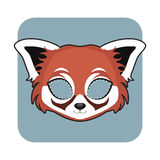 Κόκκινη μάσκα της Panda για τους εορτασμούς Στοκ φωτογραφία με δικαίωμα ελεύθερης χρήσης