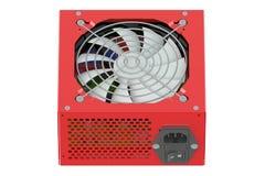 Κόκκινη μονάδα παροχής ηλεκτρικού ρεύματος Στοκ φωτογραφίες με δικαίωμα ελεύθερης χρήσης