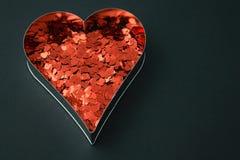 κόκκινη μορφή καρδιών Στοκ εικόνα με δικαίωμα ελεύθερης χρήσης