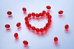 κόκκινη μορφή καρδιών Στοκ φωτογραφίες με δικαίωμα ελεύθερης χρήσης