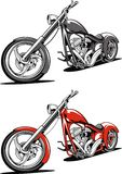 Κόκκινη μοτοσικλέτα που απομονώνεται στο άσπρο υπόβαθρο Στοκ Εικόνα