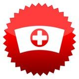 Κόκκινη νοσοκόμα ΚΑΠ σημαδιών ήλιων απεικόνιση αποθεμάτων