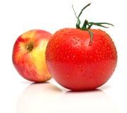 κόκκινη ντομάτα μήλων στοκ φωτογραφία με δικαίωμα ελεύθερης χρήσης