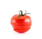Κόκκινη ντομάτα που τεμαχίζεται σε πέντε τμήματα Στοκ φωτογραφία με δικαίωμα ελεύθερης χρήσης
