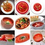 κόκκινη ντομάτα σούπας στοκ φωτογραφία